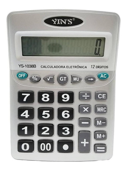 Calculadora Eletrônica 12 Dígitos