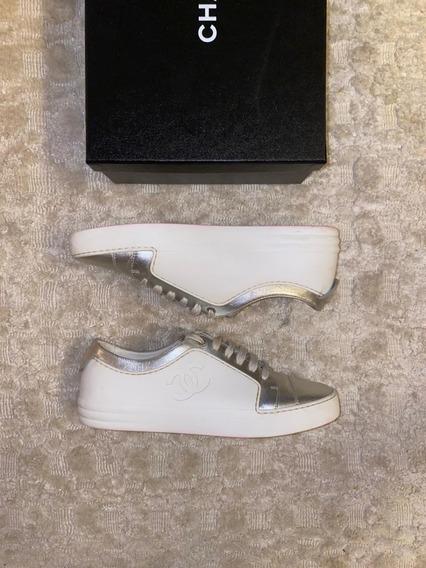 Tênis Sneaker Chanel Calfskin
