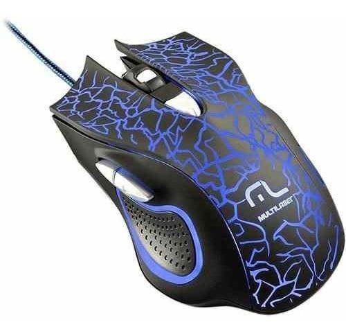 Mouse Gamer Lightning Multilaser Mo250 2400dpi 6 Botões