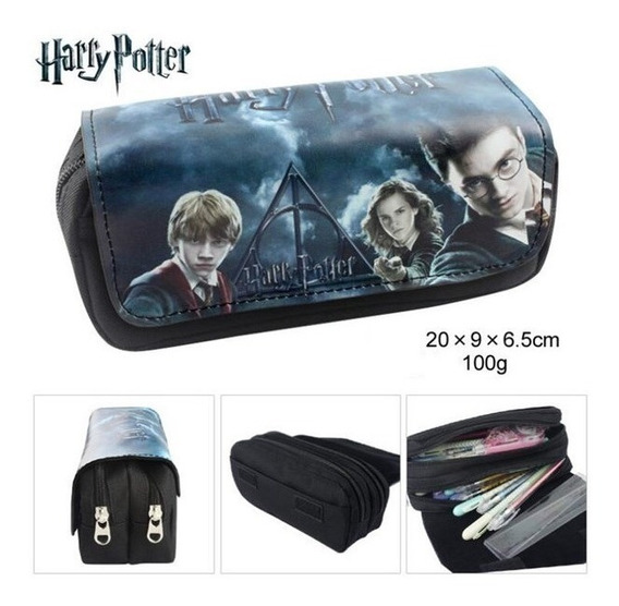 Estojo Escolar Duplo Harry Potter Hogwarts - Unissex
