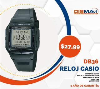 Reloj Casio 30 Memorias Db-36 1av