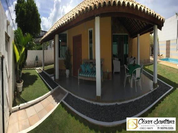 Casa Térrea Em Condomínio Fechado De Lauro De Freitas - Ca00524 - 34357290