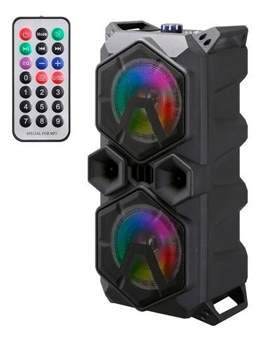 Caixa Som Portátil Amplificada Bluetooth Controle 220w Rms
