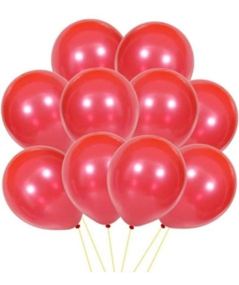 10 Globos Perlados Rojo 12 Pulgadas