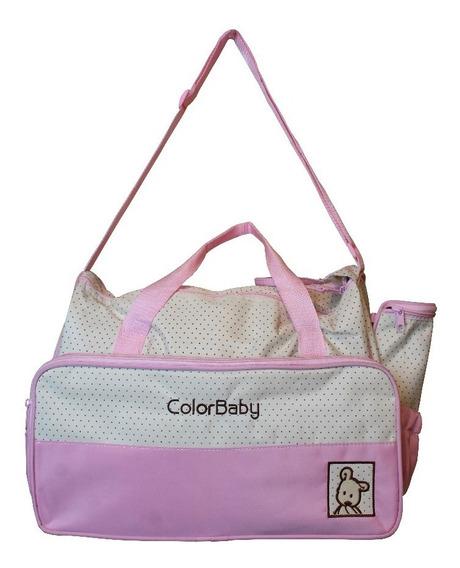 Bolsa De Bebê Maternidade Alça De Ombro Ajustável - Rosa