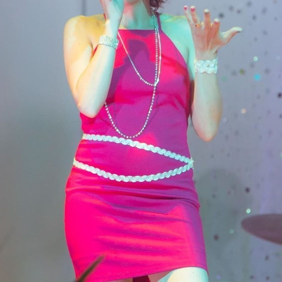 Forever 21 Vestido Color Magenta Impecable 1 Uso