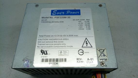 Fonte Atx 24 Pinos + Sata Ever Power Psf220m-30