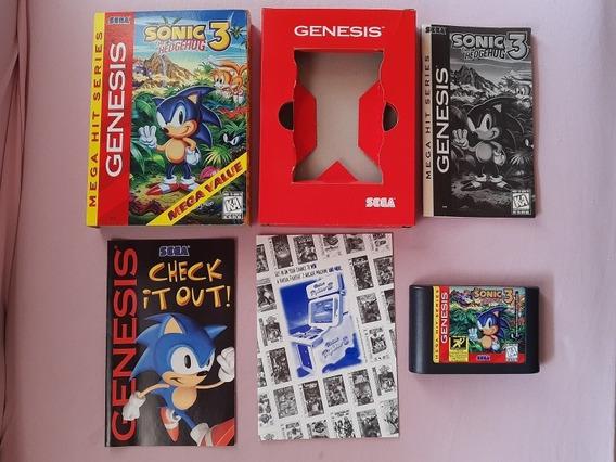 Sonic 3 Mega Drive Genesis Original Americano Completo!!