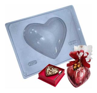 Forma Para Chocolate Coração 500g Ref. 28 - Pacote 5 Unid