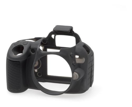 Carcasa Silicon Easycover Negro Nikon D3100 + Mica Lcd