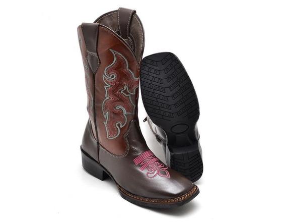 Bota Texana Seta Feminina Montaria Country Couro Legit. Elpy
