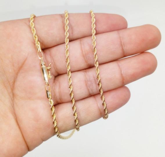 Corrente Ouro 18k Banhada C/garantia Cordão Baiano 60cm 142