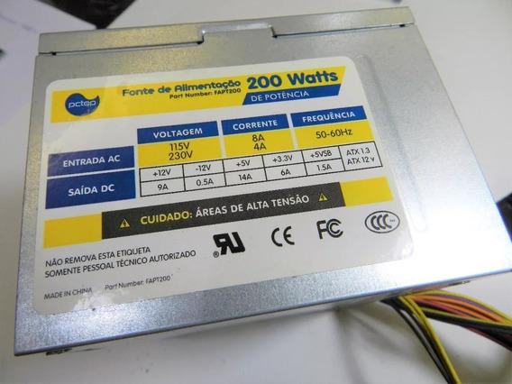 Fonte Atx Sata 24pinos Pc Top 200w Model Fapt200