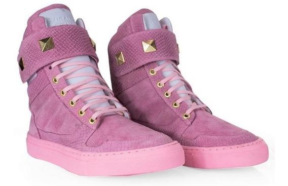 Sneakers Feminino Academia Couro Leve Palmilha Gel Macio Top