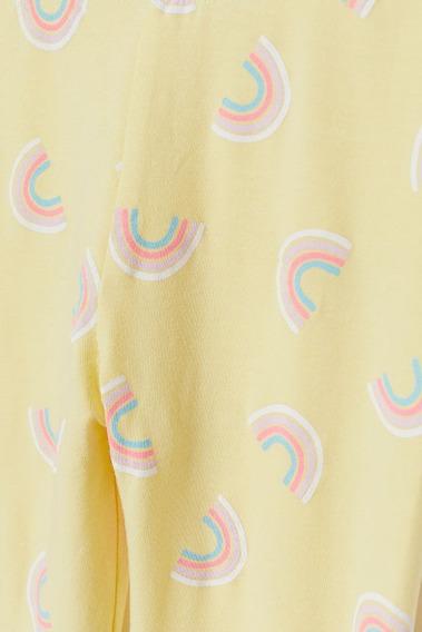 Calza Nena H&m C/etiqueta Original Arcoiris Amarilla Algodon
