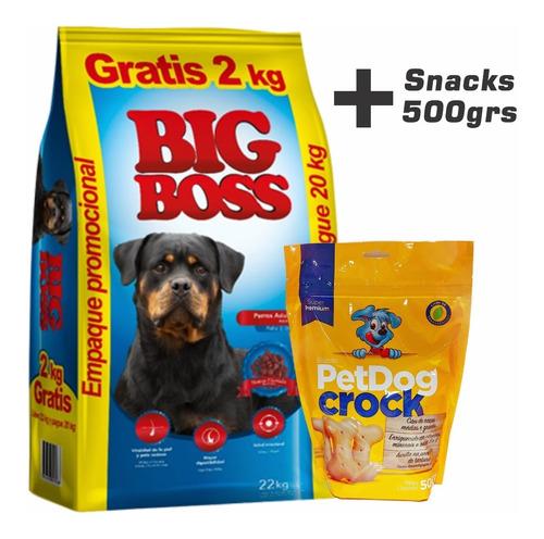 Imagen 1 de 3 de Comida Big Boss Perros Adultos 22k + Correa, Snacks Y Envío*