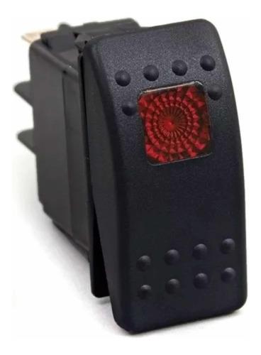 Imagen 1 de 2 de Switch Daystar Con Luz Roja 20 Amp