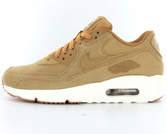 Nike Air Max 90 Ultra 2.0 Leather Flax 2018 Original-b