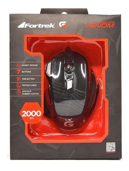 Mouse Gamer Fortrek Spider Venom - 2000 Dpi Entrega Full