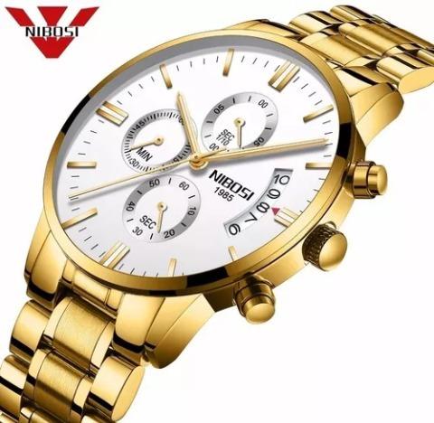 Relógio Masculino Nibosi Luxo Envio Imediato Promoção