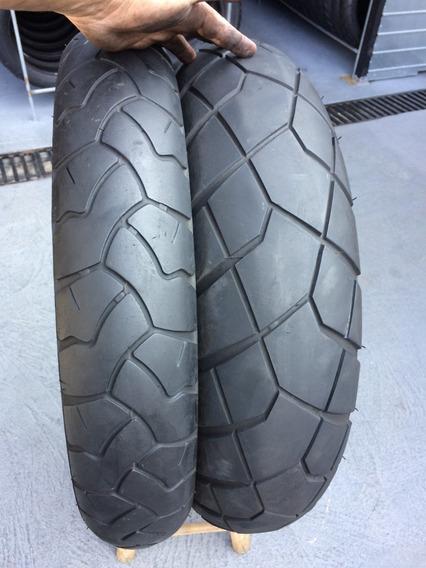 Pneus 110/80/19 E 150/70/17 Bridgestone Trail Wing Usado Bmw