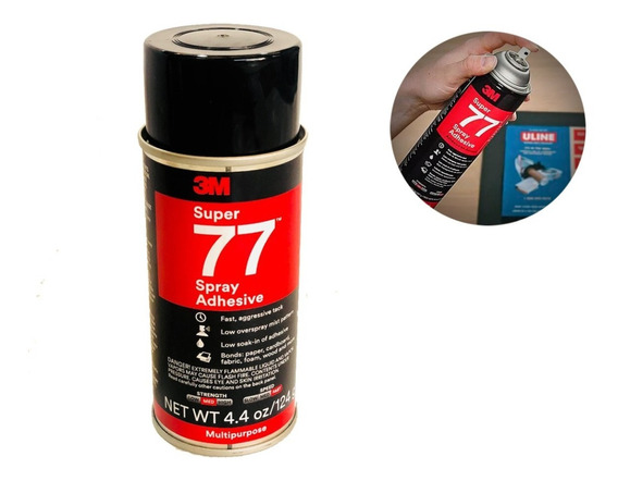 Aerosol Adhesivo 3m Super 77 Pegamento En Spray 124 Grs