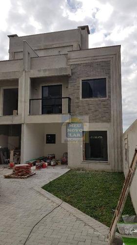 Sobrado Com 3 Dormitórios À Venda, 133 M² Por R$ 550.000,00 - Uberaba - Curitiba/pr - So0316