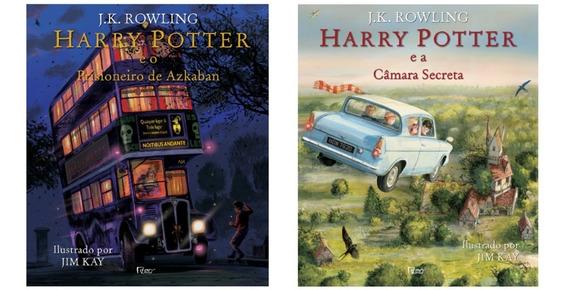 Kit Livros Harry Potter Ilustrados - 2 Livros + Brinde