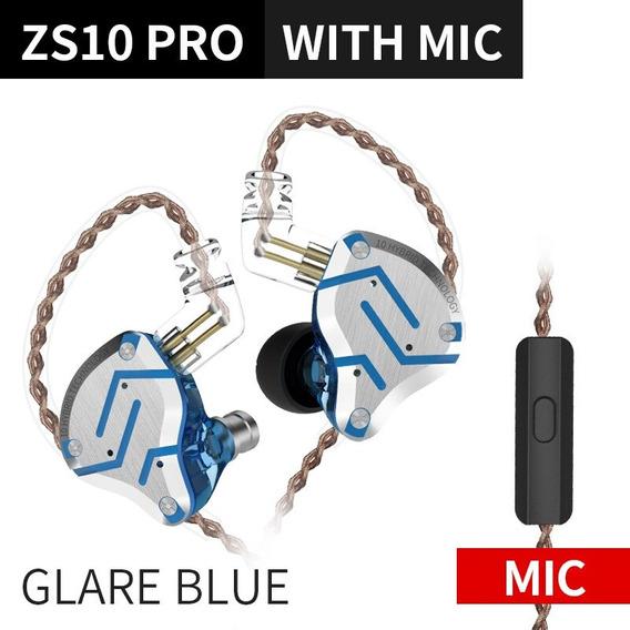 Fone De Ouvido Kz Zs10 Pro Azul Glare