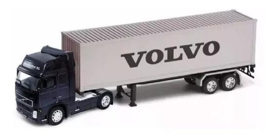 Miniatura Volvo Fh12 Container: Welly Escala: 1:32