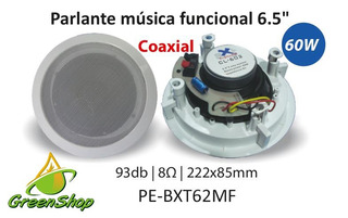 Parlante Música Funcional 6.5 60w Coaxial