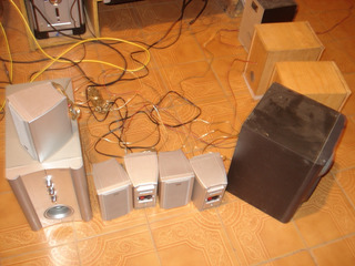 5 Parlantes(satelite) Home Theater Jwin Sin Cables