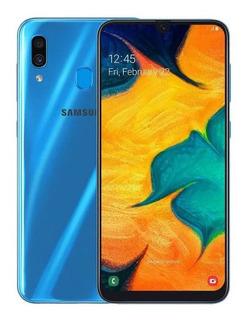 Samsung A30 64gb / 4gb Nuevos + Vidrio Somos Tienda (210vrd)