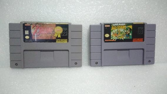 Super Mario All- Stars E Zelda Super Nintendo Originais