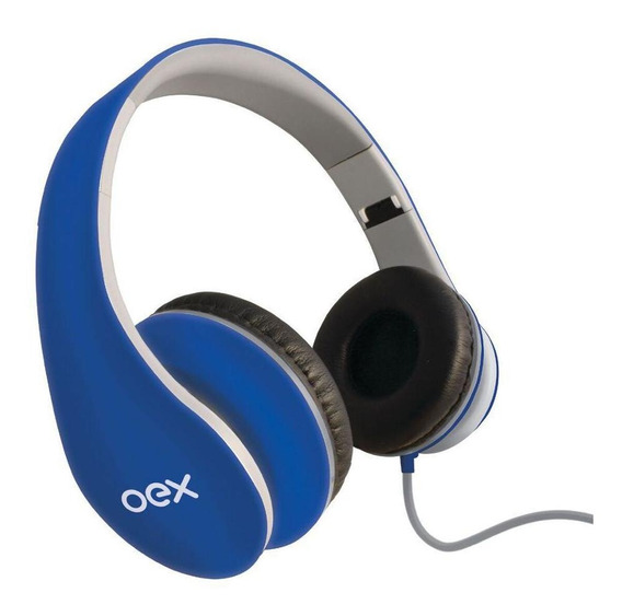 Fone De Ouvido Headset Sense Hp100 Azul Com Microfone Oex
