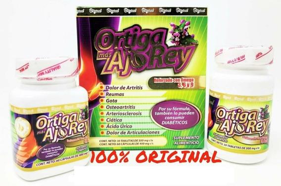 Ortiga Mas Ajo Rey Con Omega 3, 6 Y 9 Capsulas Original