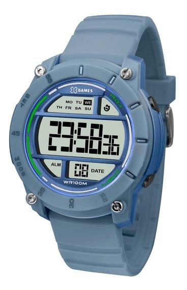 Relógio Esportivo Masculino X-games Xmppd523 Cor Azul