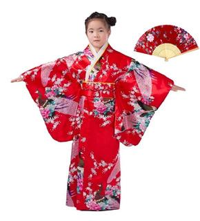 Disfraz De Japonesa - Kimono Para Niñas De 130 Cms De Alta
