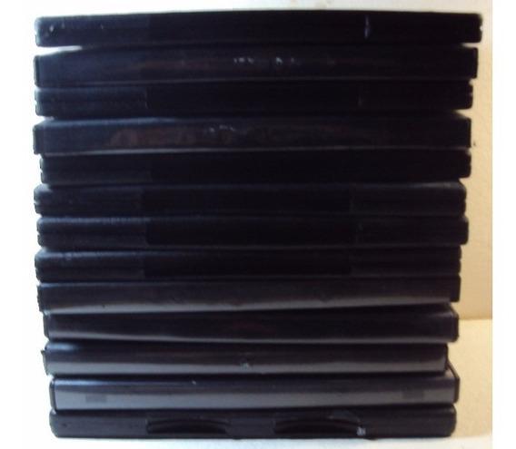 494 Prd- Box Para Dvd- Caixa Capa Estojo 13 Embalagens Preta