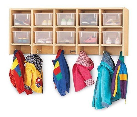 Jonti-craft 07710jc 10 Section Wall Mount Coat Locker Clea ®