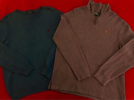 Lote 2 Suéteres Polo Ralph Lauren 100% Originales Talla L