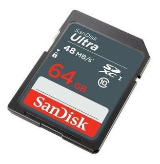 Cartão Sd 64gb Classe 10 Ultra 48mb/s Sandisk - Original