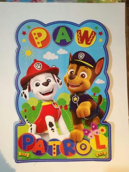 Cotillón Paw Patrol, Patrulla Canina 20 Chicos,mantel,plato