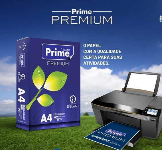 Papel A4 Delani Prime Premium 500 Folhas 210mmx297mm 75g