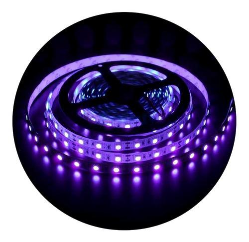 Imagem 1 de 8 de Fita Led Uv Ultravioleta Luz Negra Serigrafia Aquário-50cm