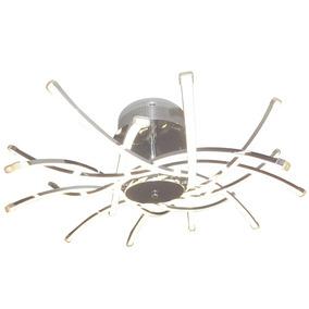 Lustre Led Cristal Medusa Pendente Prata 4200k Luz 120w