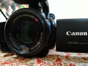 Câmera Filmadora Canon Hd +lentes +microfone +baterias