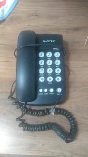 Telefone Com Fio Preto