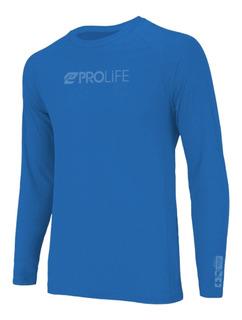 Camiseta Blusa Masculina Prolife Repelente Uv50+ Azul