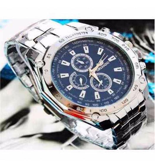 Relógio Orlando Masculino De Luxo Quartz Aço Inox